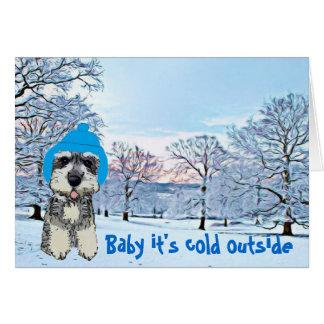 Baby ist es kalte Außenseite Karte