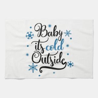 Baby ist es kalter äußerer Winter Küchentuch