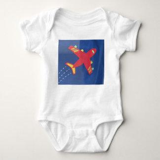 Baby-Jersey-Bodysuit-Flugzeug-Flugzeug-Reise-Kind T-shirt