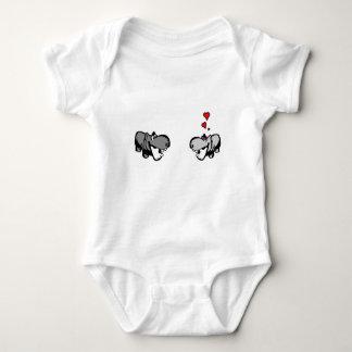 Baby-Jersey-Bodysuit - Flusspferd in der Liebe - Tshirts