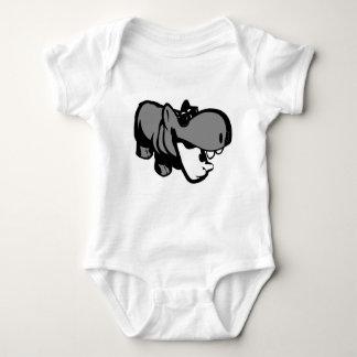 Baby-Jersey-Bodysuit - Sommerzeit-Flusspferd Hemd