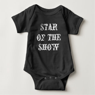 "Baby Jersey, Säuglingsbodysuit ""Stern der Show "" Baby Strampler"