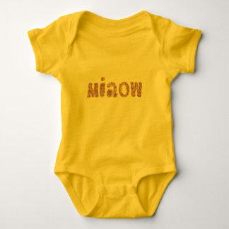 Baby Jerseybodysuit mit 'miaow Baby Strampler