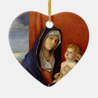Baby Jesus, der Goldbirne hält Keramik Ornament