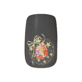 Baby-Jesus-Nagel-Kunst Minx Nagelkunst