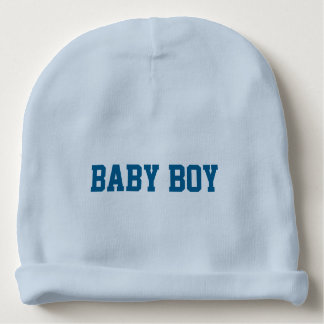 Baby-JungeBeanie mit personalisiertem mit Babymütze