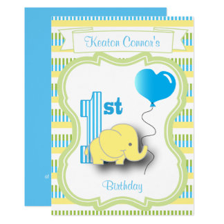 Baby-Jungen-1. Geburtstags-Party mit einem 12,7 X 17,8 Cm Einladungskarte