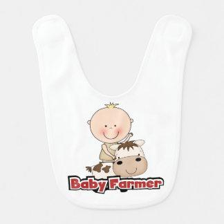 Baby-Jungen-Bauer mit Kuh Lätzchen