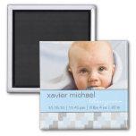 Baby-Jungen-blauer Foto-Magnet Magnete