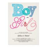 Baby-Jungen-oder Mädchen-rosa blaues Geschlecht Ankündigung
