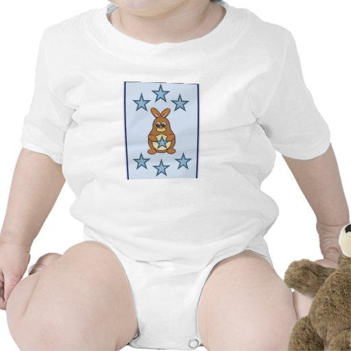 Baby-Jungen-Strampler-Häschen mit blauen Sternen 6