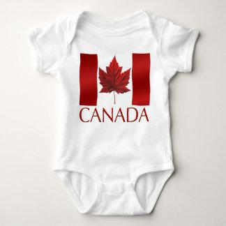 Baby-Kanada-Flaggen-Andenken-Bio einteiliges Baby Strampler