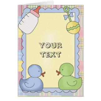 Baby-Karten-Dusche, Glückwunsch, danke, neues Baby Grußkarte