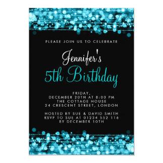 Baby-/Kindergeburtstag-Party-Glitzern-Türkis 12,7 X 17,8 Cm Einladungskarte
