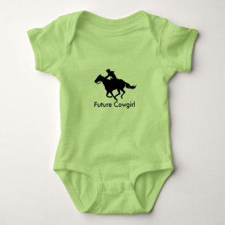 Baby kleidet zukünftigen Cowgirl-Western-FassRacer Baby Strampler