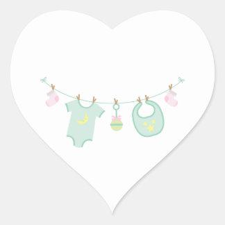 Baby-Kleidung Herz-Aufkleber