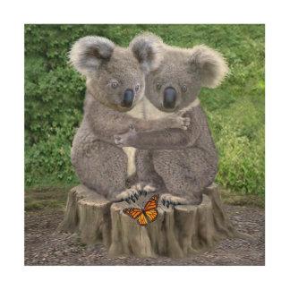 Baby-Koala-Bär Huggies Holzdruck