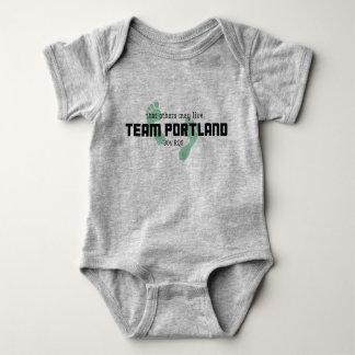 Baby-Körper-Anzug Team-Portlands 304 Baby Strampler