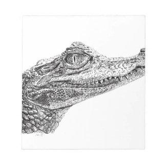 Baby-Krokodil-Tinten-Zeichnen Notizblock