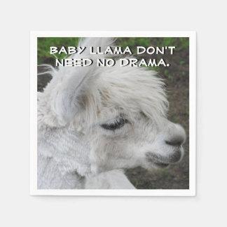 Baby-Lama benötigt nicht kein Drama Servietten