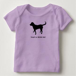 Baby lapshirt Schwarz-Labrador-Silhouette Baby T-Shirt