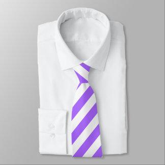 Baby-Lavendel-lila und weiße Streifen-Krawatte Krawatte