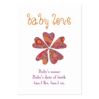 """""""Baby-Liebe"""" Taschen-Geburtsmitteilung Mini-Visitenkarten"""