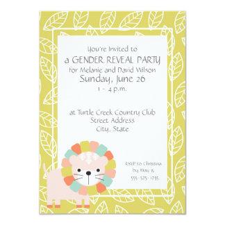 Baby-Löwe-Geschlecht decken Party Einladungen auf