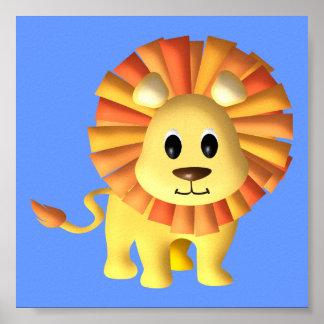 Baby-Löwe-Kinderzimmer-Dekor Poster