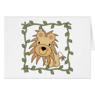 Baby-Löwe-T - Shirts und Geschenke Karte