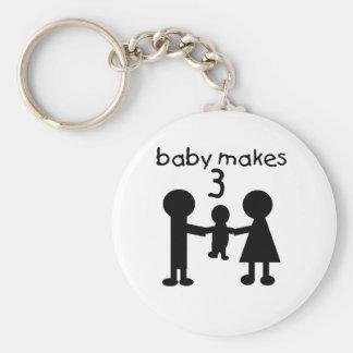 Baby macht 3 schlüsselanhänger