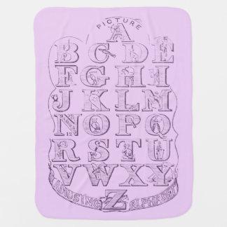 Baby-Mädchen-hübsche rosa Alphabet-Decke Babydecke