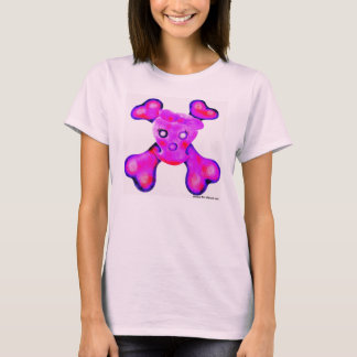 Baby-Mädchen-Piratenflagge T-Shirt