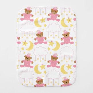 Baby-Mädchen-Rosa-und weißesniedliches Spucktuch