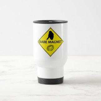 Baby-Magnet-Gelb-Verkehrsschild-Reise-Tasse Edelstahl Thermotasse
