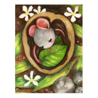 Baby-MäuseTier-Illustrations-Postkarte Postkarte
