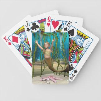 Baby-Meerjungfrau Bicycle Spielkarten