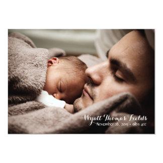Baby-Mitteilung im einfachen weißen Skript 12,7 X 17,8 Cm Einladungskarte