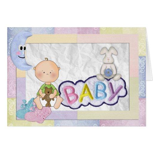 Baby-Mitteilung Grußkarte