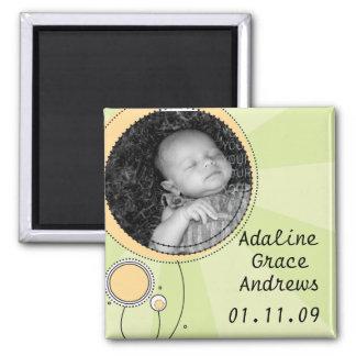 Baby-Mitteilung Quadratischer Magnet