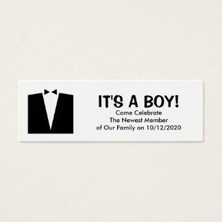 Baby-Mitteilungs-Karten Mini Visitenkarte