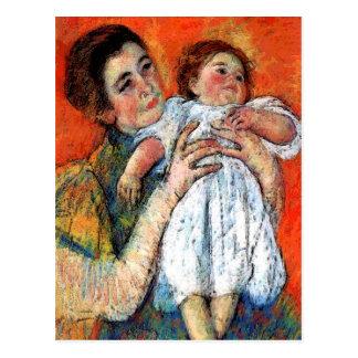 Baby-Mitteilungs-Mutter-Kind Postkarte