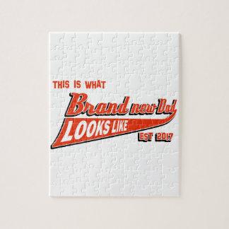 Baby-Mitteilungs-T-Shirts der Männer Puzzle