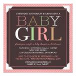 Baby-modernes Rosa u. Brown-Babyparty Ankündigungen