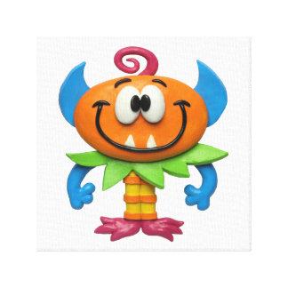 Baby-Monster-Baby-Jungen-Duschen-Kinderzimmer Gespannter Galerie Druck