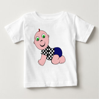 Baby-mutiges kahles baby t-shirt