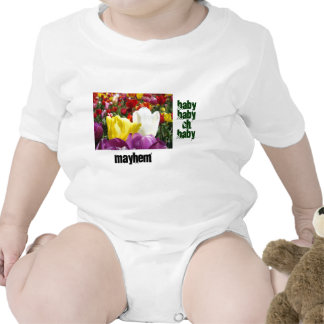 Baby Myhem Strampler-Tulpe-Blumen-lustiger Spaß