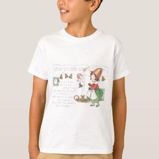 Baby-neues Jahr-Kerzen-Bell-UhrHourglass T-Shirt