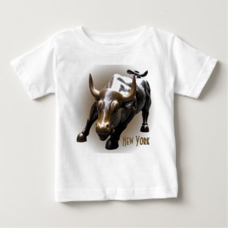Baby-New- YorkShirt-Stier-Statue-Andenken-Shirt Shirts