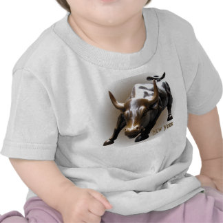 Baby-New- YorkShirt-Stier-Statue-Andenken-Shirt